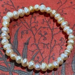 Little girls genuine natural Pearl bracelet